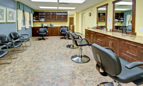 a hairdresser room in a retirement home whitby, assisted living whitby