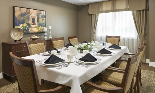 Private Dining Room at Bolton Mills Retirement Community
